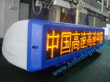 P6 Yellow Color Programmable Taxi Top LED Scrolling Sign