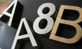 Electroplate Aluminum/Flat Cut Painting/Brushed Metal Letters
