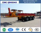 Cimc Double-Axles Container Unloading Flatbed Trailer Twist Locks Chassis
