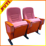 Jy-998m Fabric Price Wooden Folding Chair Matel Leg Wooden Armrest Wite Pads Conference Chair