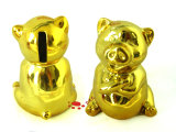 Ceramic Gold Pig Coin Box Toy
