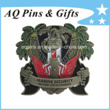 3D Military Challenge Coin with Soft Enamel