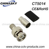 BNC Plug Twist on Solderless Connector for Cable Rg59 with Short Boot (CT5014)