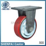 "6"" Iron Core PU Rigid Industrial Caster Wheel"