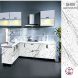 Wood Kitchen Cabinet with High Glossy Acrylic (ZH-9605)
