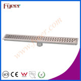 Fyeer Stainless Steel Odor-Resistant Rectangle Bathroom Long Floor Drain