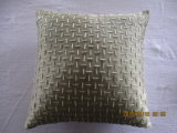 Green Geo Embroidery Square DEC Pillow