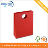 Full Red Color Printign Round Handle Paper Bag (QY150260)