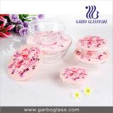 5PCS Glass Bowl Set with Lid Printing GB1401-Mg