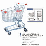 Supermarket Wire Metal Grocery Shopping Trolley Carts