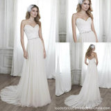 Beach Wedding Gown Chiffon Lace Empire Wedding Dress W171954