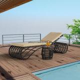 Modern Outdoor Wicker Rattan Furniture Sun Lounger Beach Chaise Lounger (YTF608)