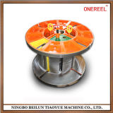 Collapsible Reel Steel Cable Spool with Coiling and Lifting System