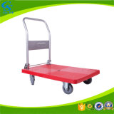 Wheeled Warehouse Foldable Plastic Handcart