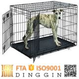 Stainless Foldable Pet Cage with 2 Doors