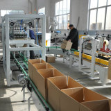 Adhesive tape carton packing machine for bottles