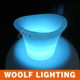 Plastic LED Illuminated Ice Bucket for Sale