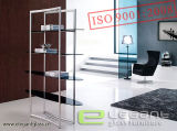 2015 Stainless Steel and Glass Display Stand Made in China