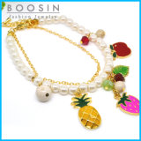 Fashion Fruits Charm Bracelet in Gold Thin Chain #31453