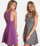 2016 New Women Fashion Jacquard Sexy Back Evening Dress