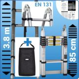 Telescopic Foldable Extendable Multipurpose Aluminium a Frame Ladder