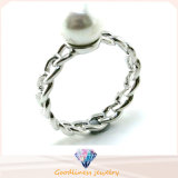 Woman′s Fashion Jewelry Hot Sale 925 Silver Pearl Ring (R10389)