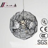 European Polygon Stainless Steel Round Pendant Lamp for Decoration