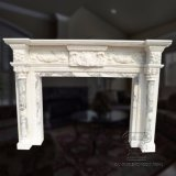 White Marble Fireplace with Good Carving for Decoraction