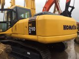 Used Komatsu Hydraulic Excavators PC210 (Komastu PC210LC-7) with Good Condition