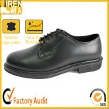 Black Gueuine Cow Leather Army Boot Military Office Shoes for Sale