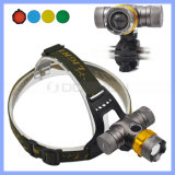 5 Colors Lens T6 Rechargeable LED Bike Riding Zoom Headlamp