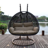 Outdoor Rattan Wicker Cane Hanging Swing Chair Outdoor Furniture with Stand