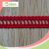 1.2cm Women Dress Super Quality Lovely Red Cotton Crochet Lace
