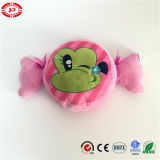 Candy Sweets Shape Frog Embroidered Pattern Mika Pink Kids Pillow