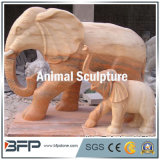 Natural Granite/Marble Carved Stone Animal Sculpture for Garden/Outdoor Decoration