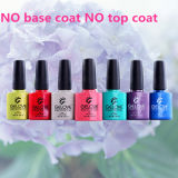 High Glossy No Base Coat No Top Coat 3 in 1 Nail Art One Step Gel