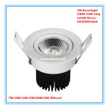 Office Home Hotel Used Dimmable 7W LED Downlight