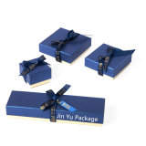 Blue Gift Jewelry Packaging Box Case Manufacture with Ribbon Bow