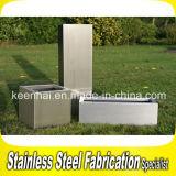 Outdoor Stainless Steel Garden Planter Box Rectangular Flower Pot