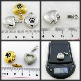 Cremation Urn Jewelry Pet Paw Heart Pendant