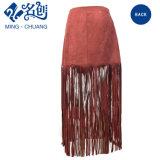 Newstyle Brown Mini Fashion Skirt with Tassels