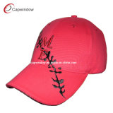 Promotional Red Embroidery Logo Baseball Cap (00692)
