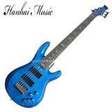 Hanhai Music / Blue Electric Bass Guitar with 6 Strings (TRBJP6/TRB-JP6)