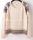 Women Fashion Sales V Neck Long Sleeve Sweater Clothing (X-253)