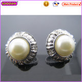 Fashion Female Beautiful Big Pearl Earring with Silver Plated (22295)