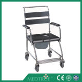 Ce/ISO Approved Medical Cheap Medical Stainless Steel Commode Wheel Chair (MT05030063)