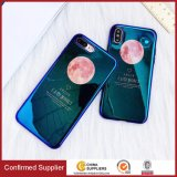 Bling Mirror Effect Blue-Ray Light Phone Cases for iPhone X