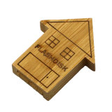 Wooden House Shape USB Flash