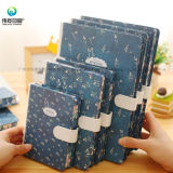 New Arrival Fashion Custom Printing Hard Cover Notebook with Metal Button