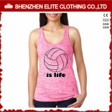 New Design Stylish Leisure Pink Tank Tops for Girls (ELTWBJ-433)